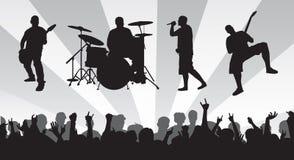 De Menigte van de band N stock illustratie