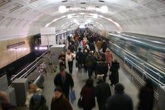 De menigte van de metro stock afbeelding