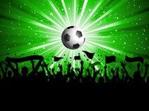 De menigte van de voetbal stock illustratie
