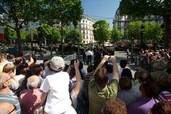 De Menigte van Elysees van Champs Stock Foto's