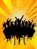 De menigte van Grunge Royalty-vrije Stock Afbeelding