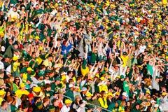 De Menigte van het Autzenstadion in Eugene Oregon
