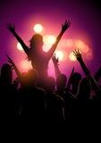 De menigte van het muziekfestival stock illustratie