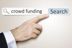 De menigte van het Webonderzoek financiering royalty-vrije stock foto's