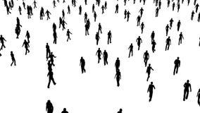 De menigte van mensen beweegt zich in verschillende richtingen stock footage