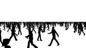 De menigte van mensen beweegt zich in verschillende richtingen stock videobeelden