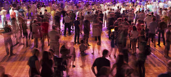 De menigte van mensen toont aan Stock Foto