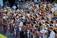 De menigte van ventilators stock foto