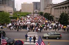 De menigte verzamelt zich. Royalty-vrije Stock Afbeelding