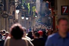 De Menigten van Barcelona Stock Foto