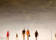 De Menigten van het strand Stock Foto