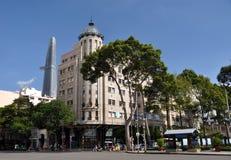 De Mening die van de opera, Ho-Chi-Minh-Stad, Vietnam winkelt Stock Afbeelding