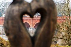 De mening door het hart royalty-vrije stock afbeeldingen