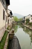 De mening in een Chinees traditioneel dorp  royalty-vrije stock afbeeldingen
