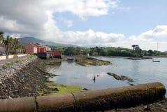 De mening en de huizen van de haven Royalty-vrije Stock Foto