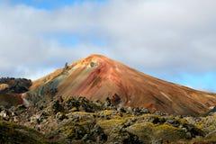 De mening IJsland van Landmannalaugar Royalty-vrije Stock Fotografie