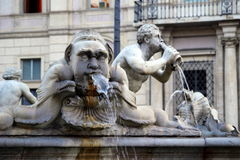 De mening namens fontein Stock Foto's