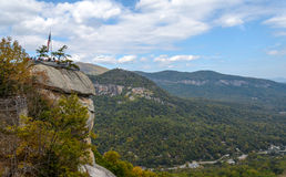 De Mening Noord-Carolina van de schoorsteenrots Royalty-vrije Stock Fotografie
