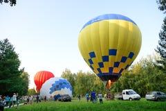 De mening over ballons is over Olexandria-Park Royalty-vrije Stock Afbeelding