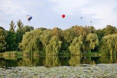 De mening over ballons is over Olexandria-Park Stock Afbeelding