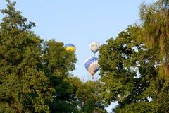 De mening over ballons is over Olexandria-Park Royalty-vrije Stock Fotografie