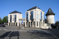 De mening over oude gevangenistoren ( Rouen, France) Stock Afbeelding