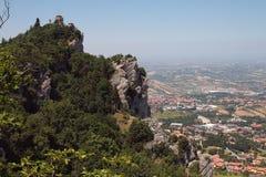 De mening over San Marino Italië Stock Fotografie