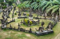 Het Park van Boedha, de Mening van het panorama - Vientiane, Laos Stock Afbeelding