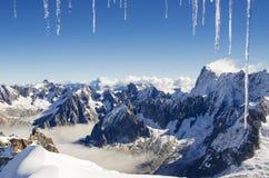 De mening van alpen Stock Afbeeldingen