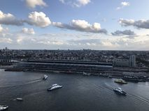 De mening van Amsterdam van de toren van Adam stock fotografie
