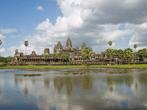 De mening van Angkor wat Royalty-vrije Stock Foto