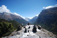 De mening van Annapurna Royalty-vrije Stock Afbeeldingen