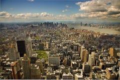 De mening van Arerial van Manhattan Royalty-vrije Stock Afbeeldingen