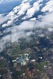 De mening van Arial van het vliegtuig Royalty-vrije Stock Foto's