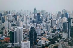De mening van Bangkok, boven mening van Baiyoke-Toren II de langste bouw stock foto's