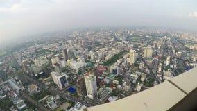 De Mening van Bangkok van het observatiedek stock video