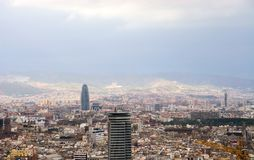 De mening van Barcelona. Stock Fotografie