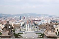 De mening van Barcelona Royalty-vrije Stock Afbeelding