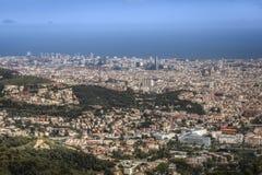 De mening van Barcelona royalty-vrije stock foto's