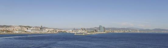 De mening van Barcelona van het overzees wijd royalty-vrije stock fotografie