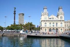 De mening van Barselona van kust. Stock Fotografie