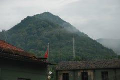 De mening van de berg in China royalty-vrije stock afbeelding