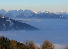 De Mening van bergen in Oostenrijk (Lienz) Royalty-vrije Stock Afbeelding