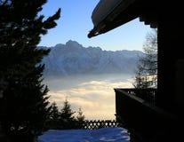 De Mening van bergen in Oostenrijk (Lienz) Royalty-vrije Stock Fotografie