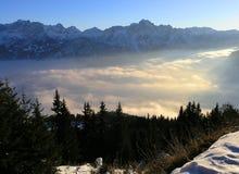 De Mening van bergen in Oostenrijk (Lienz) Royalty-vrije Stock Afbeeldingen
