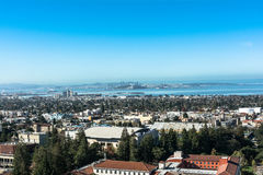 De mening van Berkeley van Campanile, Californië Royalty-vrije Stock Afbeelding