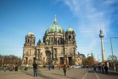 De mening van Berlin Cathedral (Berliner Dom) is de grootste Evangelische Kerk in Duitsland Stock Fotografie