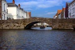 De mening van Brugge, Brugge van het kanaal. Royalty-vrije Stock Fotografie