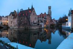 De mening van Brugge van Rozenhoedkaai Stock Afbeeldingen