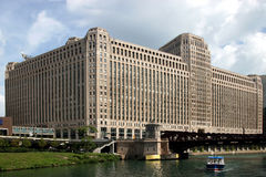 De mening van Chicago â van riverboat Stock Afbeelding